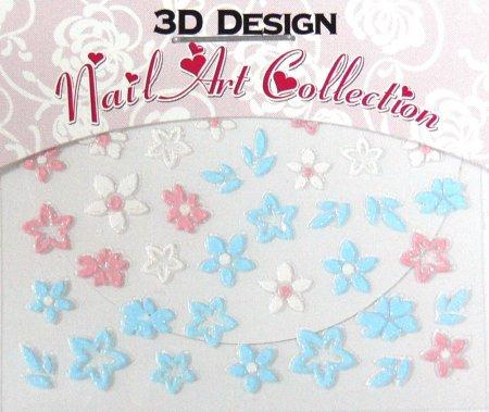 Zdobící nálepky na nehty 3D mini 24917 - Péče o ruce Zdobící nálepky a obtisky na nehty Zdobící nálepky na nehty 3D mini - samolepící