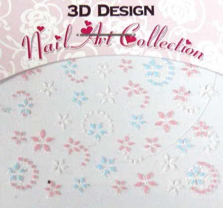 Zdobící nálepky na nehty 3D mini 24921 - Zdobící nálepky a obtisky na nehty Zdobící nálepky na nehty 3D mini - samolepící