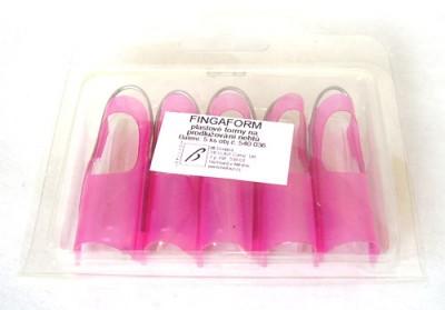 Fingaform plast 5 ks, plastové formy na prodlužování nehtů. - Nehtové tipy pro nehtovou modeláž Příslušenství k tipům