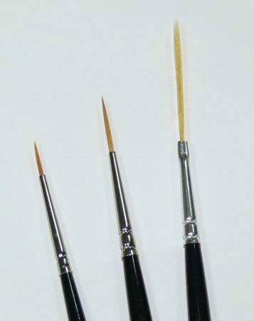 Zdobící štětce sada - 3ks - Štětce pro nehtovou modeláž a zdobení Štětce na zdobení nehtů a Nail Art