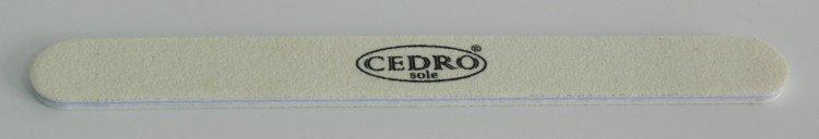 Pilník na nehty 80/80 bílý Cedro - Leštičky, leštící bloky a pilníky na nehty pro nehtovou modeláž a manikúru Pilníky na nehty pro nehtovou modeláž a manikúru - rovné