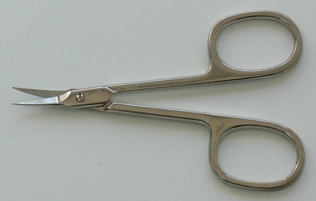 Nůžky na kůži M 421 zahnuté úzké Manart Solingen 9 cm - Péče o ruce Kleště a nůžky na nehty a kůži pro manikúru a pedikúru, pinzety, pilníky, atd. Nůžky na nehty a kůži pro manikúru a pedikúru
