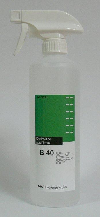Dezinfekce postřiková na plochy a nástroje B40 s rozprašovačem 0, 5 litru - Péče o ruce Dezinfekce a hygiena Dezinfekce na nástroje a plochy