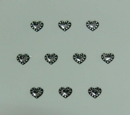 Samolepící nálepky na nehty 24072 - černé s kamínkem - Zdobící nálepky a obtisky na nehty Zdobící nálepky na nehty 3D s kamínky, černé - samolepící