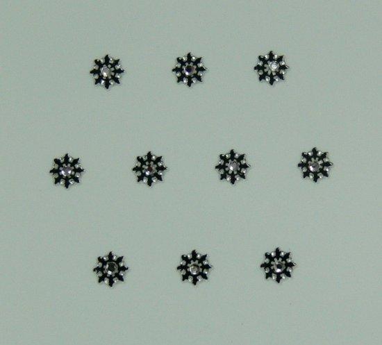 Samolepící nálepky na nehty 24071 - černé s kamínkem - Péče o ruce Zdobící nálepky a obtisky na nehty Zdobící nálepky na nehty 3D s kamínky, černé - samolepící