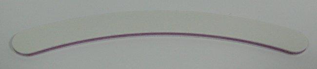 Pilník na nehty 100/100 bílý zahnutý - Leštičky, leštící bloky a pilníky na nehty pro nehtovou modeláž a manikúru Pilníky na nehty pro nehtovou modeláž a manikúru - zahnuté a rovné široké
