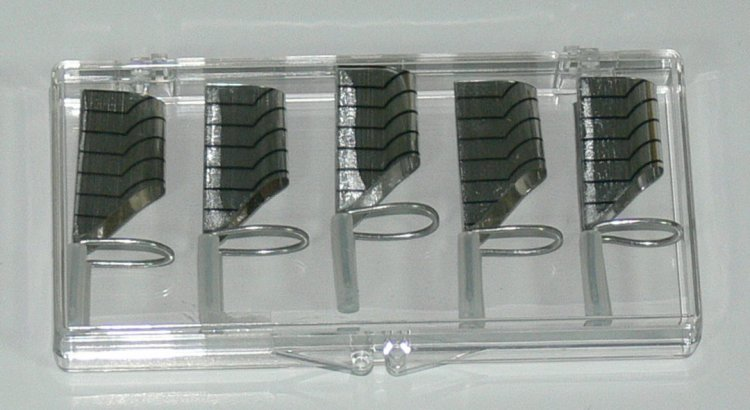 Forma na nehty teflonová 5 ks - Péče o ruce Nehtové tipy pro nehtovou modeláž Příslušenství k tipům