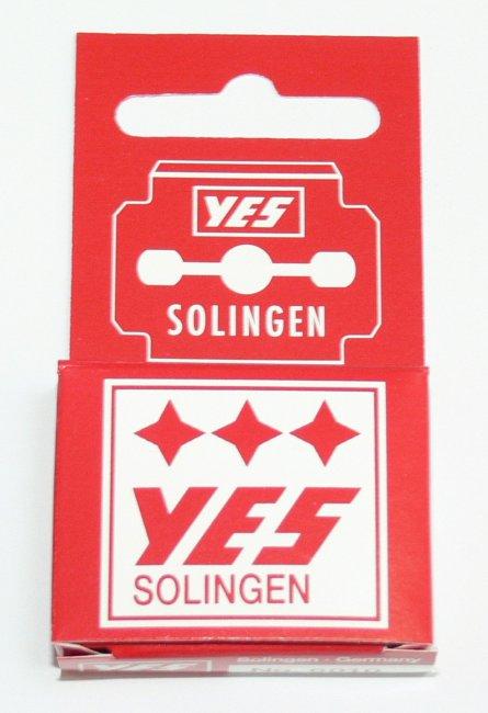 Solingen YES žiletky k seřezávači ztvrdlé kůže na patách 10 ks - Kleště a nůžky na nehty a kůži pro manikúru a pedikúru, pinzety, pilníky, atd. Ostatní nástroje a příslušenství pro pedikúru