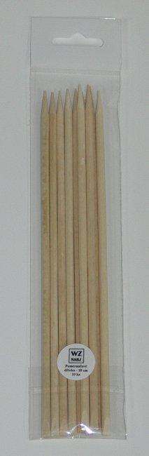 Pomerančové dřívko dlouhé balení 10 ks - Přípravky k péči o nehty a k manikúře Pomůcky k péči o nehty a k manikúře