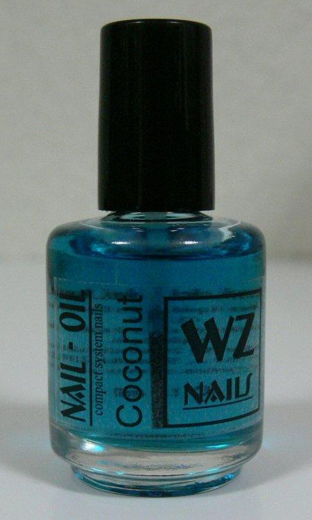 Nehtový olej s vůní kokosu Nail Oil Coconut 15 ml - Péče o ruce Přípravky k péči o nehty a k manikúře Nehtové oleje k péči o nehty a k manikúře WZ nails