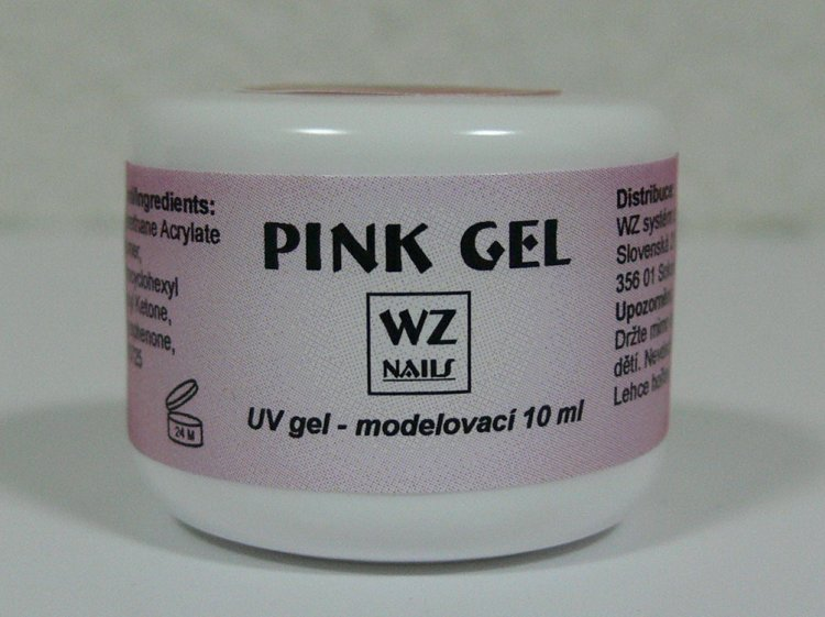 Pink gel - UV gel modelovací 10 ml - UV gely UV gely WZ NAILS