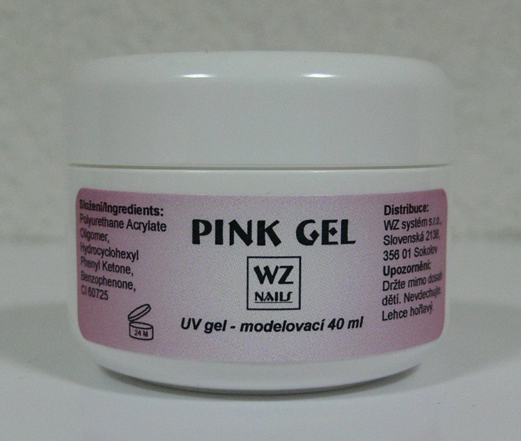 Pink gel - UV gel modelovací 40 ml - UV gely UV gely WZ NAILS
