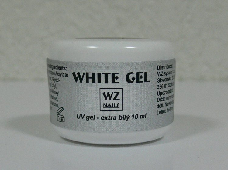 UV gel na francouzskou manikúru White extra gel 10 ml - Péče o ruce UV gely UV gely WZ NAILS