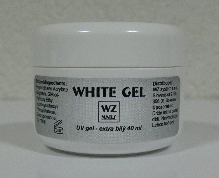 UV gel na francouzskou manikúru White extra gel 40 ml - Péče o ruce UV gely UV gely WZ NAILS