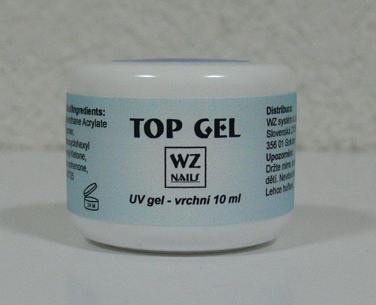 UV gel vrchní Top gel 10 ml - UV gely UV gely WZ NAILS