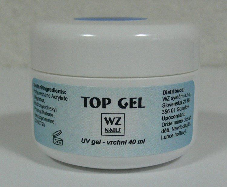 UV gel vrchní Top gel 40 ml - Péče o ruce UV gely UV gely WZ NAILS