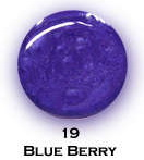 UV gel barevný perleťový Blue Berry 5 ml - Barevné UV gely Perleťové barevné UV gely