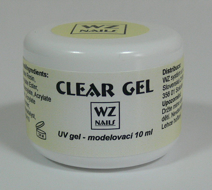 UV gel modelovací čirý Clear gel 10 ml - UV gely UV gely WZ NAILS