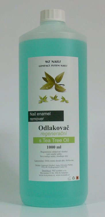 Odlakovač na nehty s Tea Tree Oil 1000 ml