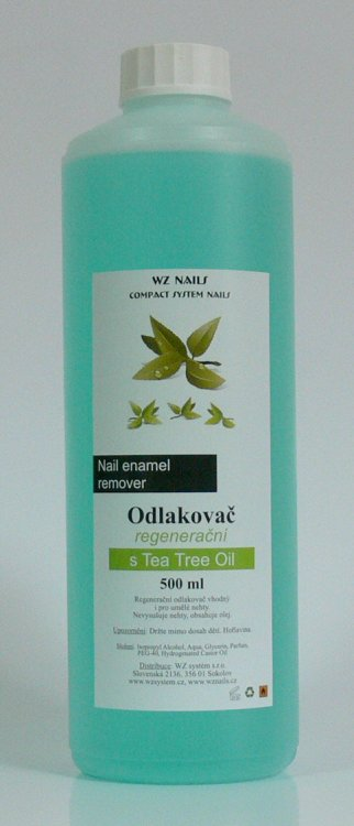 Odlakovač na nehty s Tea Tree Oil 500 ml