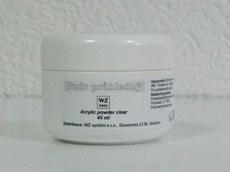 Akrylový pudr průhledný 45 ml - Akryl Akryl WZ nails