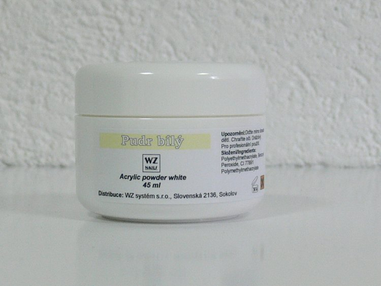 Akrylový pudr bílý 45 ml - Akryl Akryl WZ nails