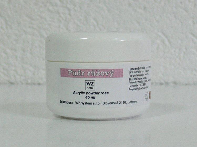 Akrylový pudr růžový 45 ml