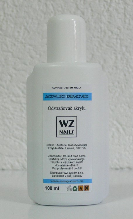 Odstraňovač akrylu 100 ml - Akryl Akryl WZ nails