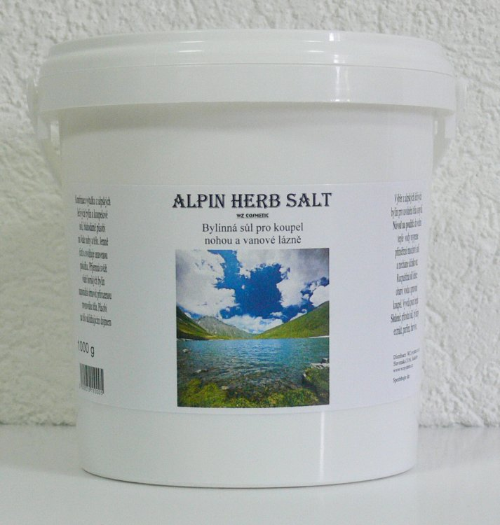 Koupelová sůl na nohy kamenná Alpin Herb Salt 5000 g - Péče o ruce Kosmetika WZ cosmetic Koupelové soli a olejové lázně