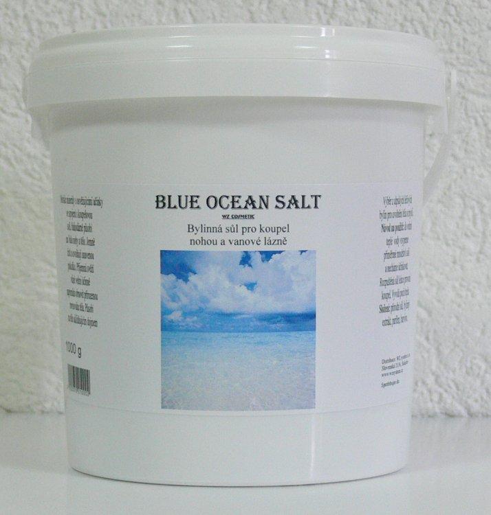 Koupelová sůl na nohy kamenná Blue Ocean Salt 1000 g - Kosmetika WZ cosmetic Koupelové soli a olejové lázně