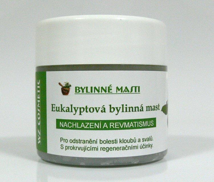 Bylinná mast eukalyptová 150 ml - Kosmetika WZ cosmetic Bylinné masti a vazelíny