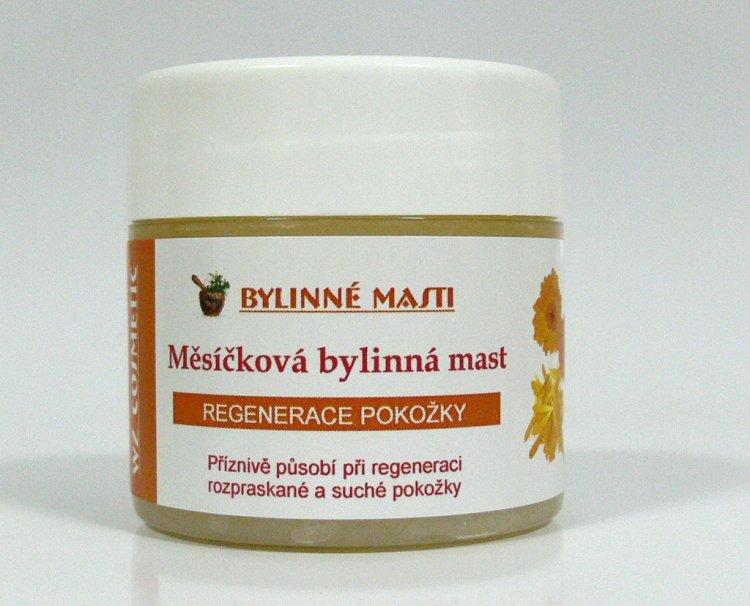 Bylinná mast s měsíčkem lékařským 150 ml - Kosmetika WZ cosmetic Bylinné masti a vazelíny