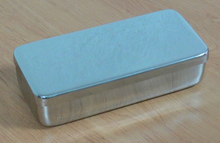 Kazeta s víkem, nerez 25x10x6 - Péče o ruce Nerezové výrobky pro pedikúru