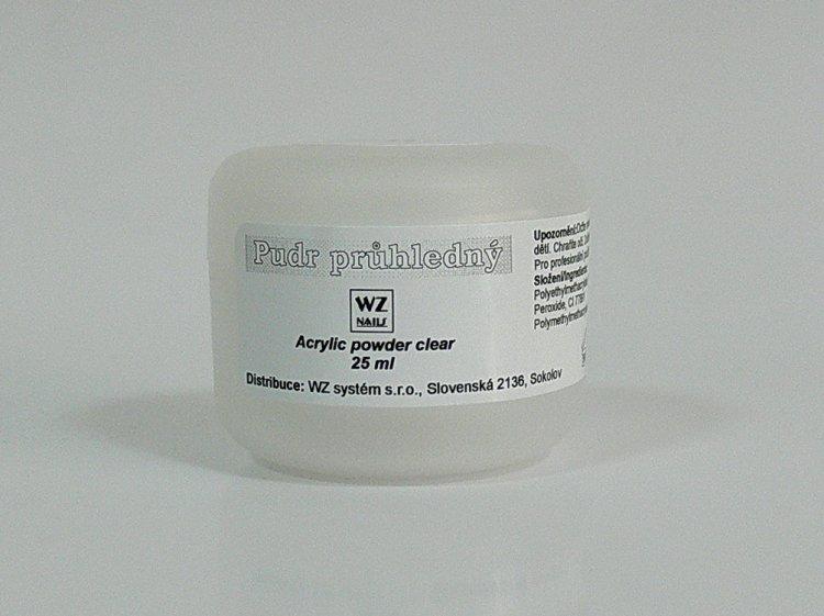 Akrylový pudr průhledný 25 ml - Péče o ruce Akryl Akryl WZ nails
