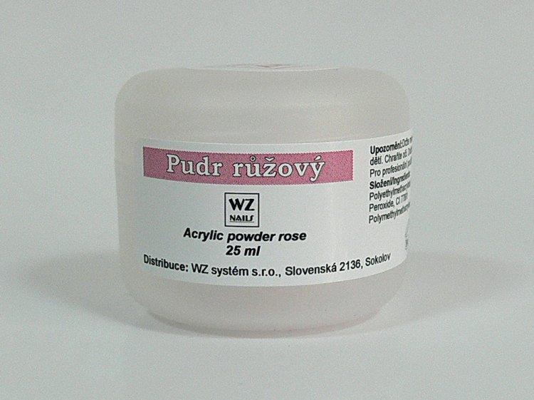 Akrylový pudr růžový 25 ml - Akryl Akryl WZ nails