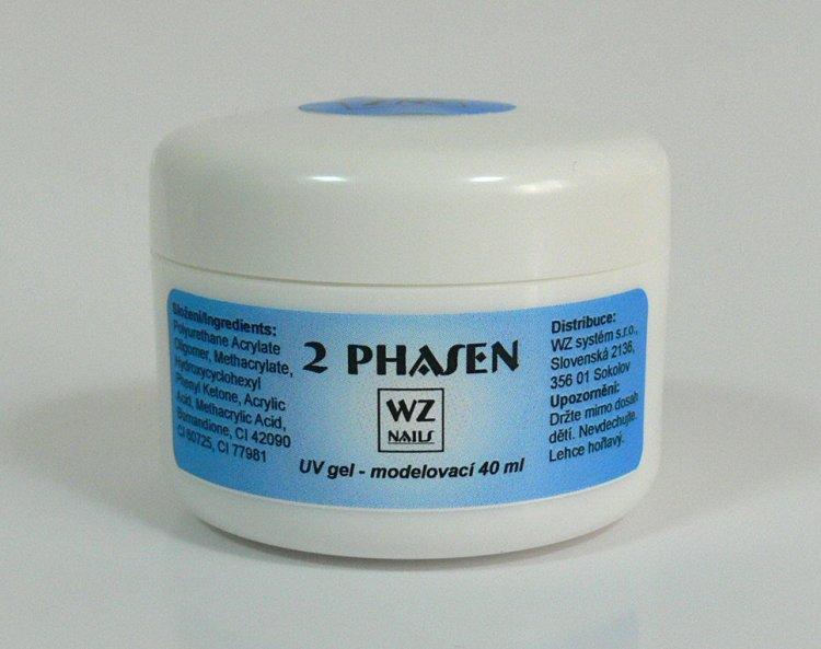 UV gel modelovací dvoufázový 40 ml - UV gely UV gely WZ NAILS