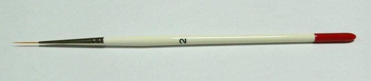 Zdobící štětec č. 2, vlas 1. 5 cm - Péče o ruce Štětce pro nehtovou modeláž a zdobení Štětce na zdobení nehtů a Nail Art