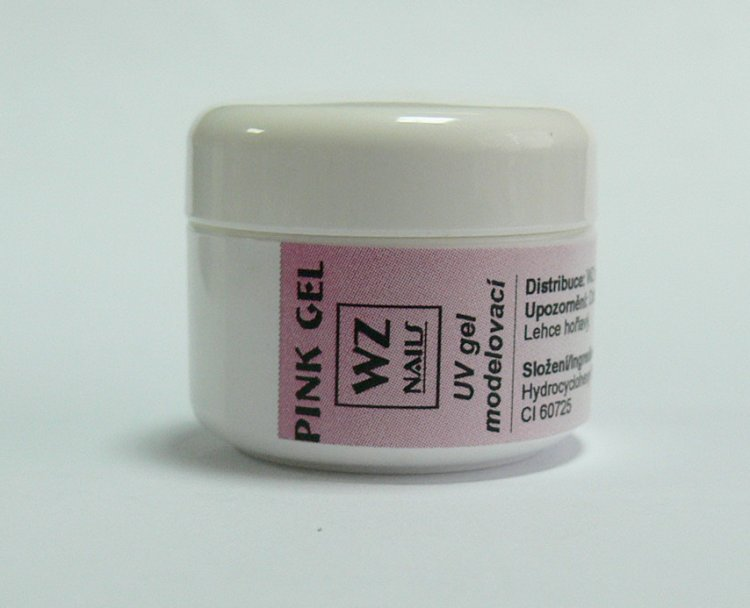 Pink gel - UV gel modelovací 5 ml - UV gely UV gely WZ NAILS