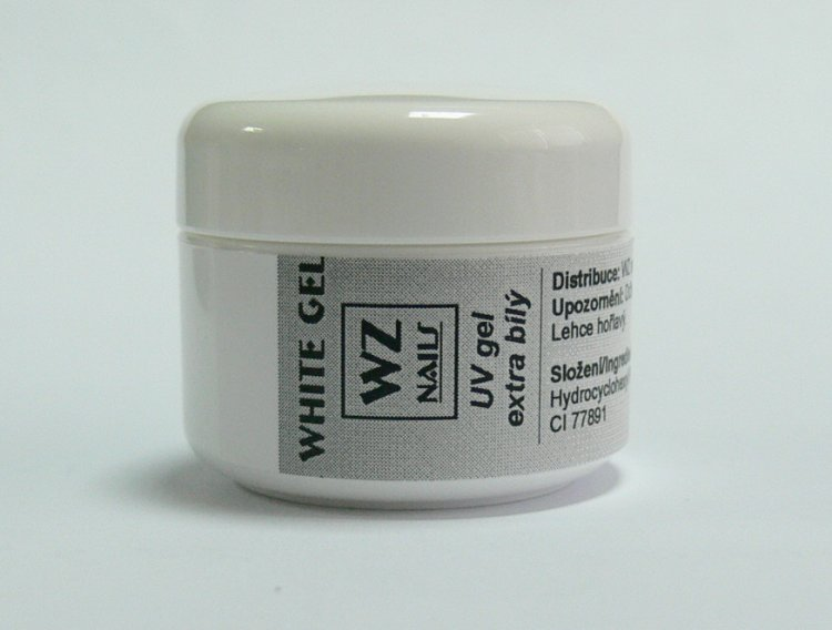UV gel na francouzskou manikúru White extra gel 5 ml - UV gely UV gely WZ NAILS