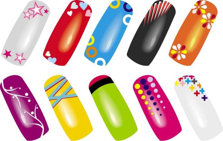 Plakát WZ nails barevná variace