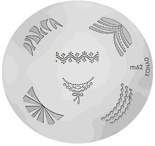 Konad Destička m62 - Péče o ruce Konad - razítka na nehty Destičky Konad