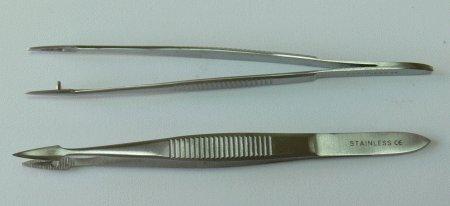 Pinzeta na třísky 11 cm - Péče o ruce Kleště a nůžky na nehty a kůži pro manikúru a pedikúru, pinzety, pilníky, atd. Pinzety, kovové a safírové pilníky na nehty