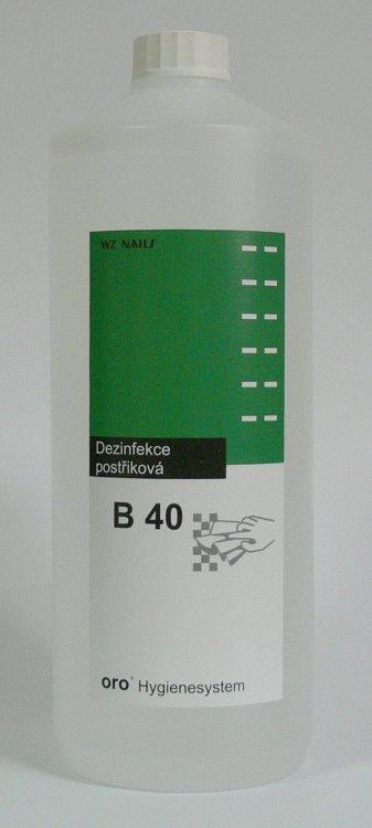 Dezinfekce postřiková na plochy a nástroje B40 1 litr - Dezinfekce a hygiena Dezinfekce na nástroje a plochy