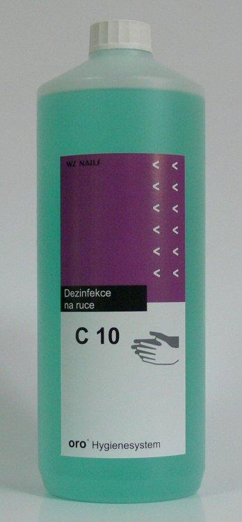 Dezinfekce na ruce C10 alkoholová 1 litr - Péče o ruce Dezinfekce a hygiena Dezinfekce na ruce