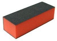 Leštící blok na nehty třístranný červený středně jemný 100/180/180 - Péče o ruce Leštičky, leštící bloky a pilníky na nehty pro nehtovou modeláž a manikúru Leštičky a leštící bloky na nehty pro nehtovou modeláž a manikúru