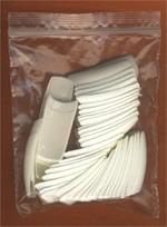 Nehtové tipy na francouzskou manikúru SÁČEK 50 ks vel. 8 - Nehtové tipy pro nehtovou modeláž Nehtové tipy pro doplnění na francii - Cedro