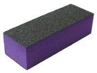Leštící blok na nehty třístranný fialový hrubý 60/60/100 - Péče o ruce Leštičky, leštící bloky a pilníky na nehty pro nehtovou modeláž a manikúru Leštičky a leštící bloky na nehty pro nehtovou modeláž a manikúru