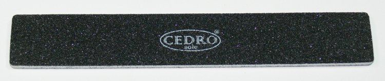 Pilník na nehty 80/80 černý Jumbo Cedro - Leštičky, leštící bloky a pilníky na nehty pro nehtovou modeláž a manikúru Pilníky na nehty pro nehtovou modeláž a manikúru - zahnuté a rovné široké