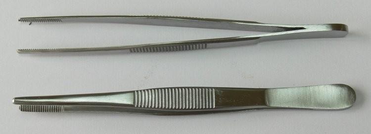 Pinzeta anatomická 14 cm - Péče o ruce Chirurgické nástroje, pinzety Pinzety anatomické
