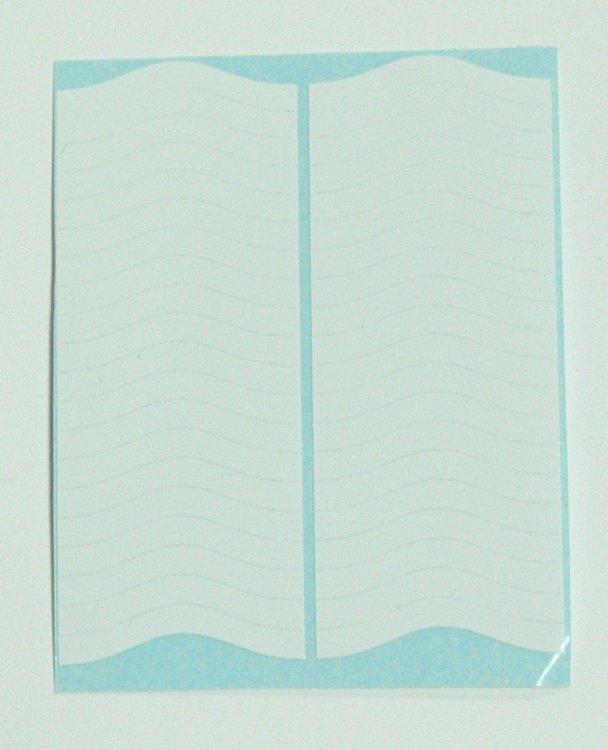 Šablony na francouzskou manikúru - vlnky